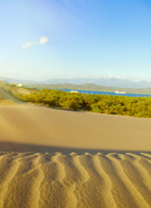 Sand dunes in Dominican Republic