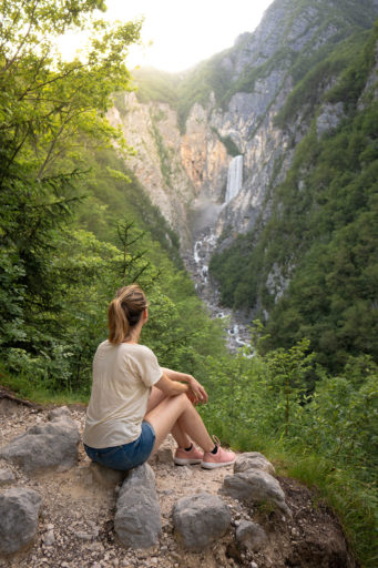 Waterfall Boka in Slovenia